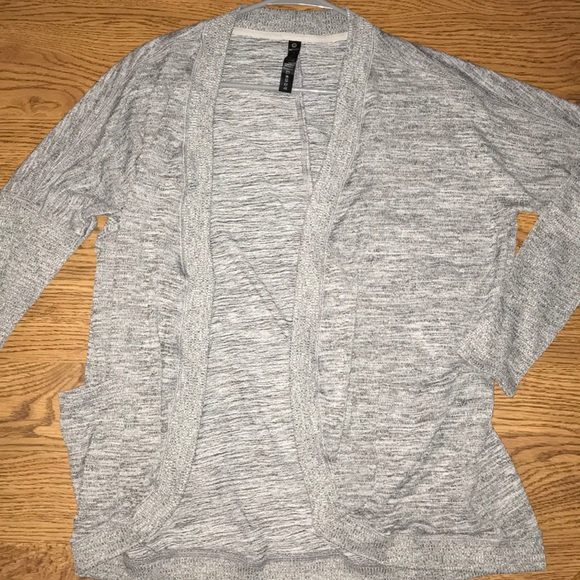 90 Degree By Reflex Sweaters - Grey athletic cardigan